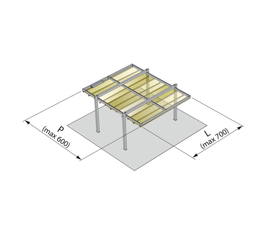 PHOENIX alumínium pergola